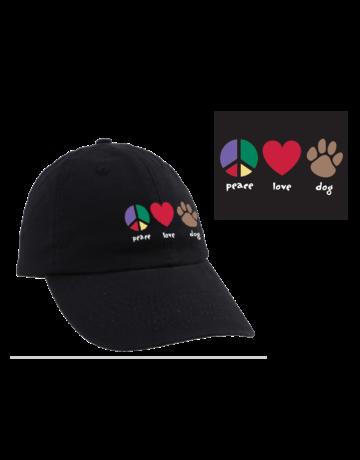 Peace Love Dog cap