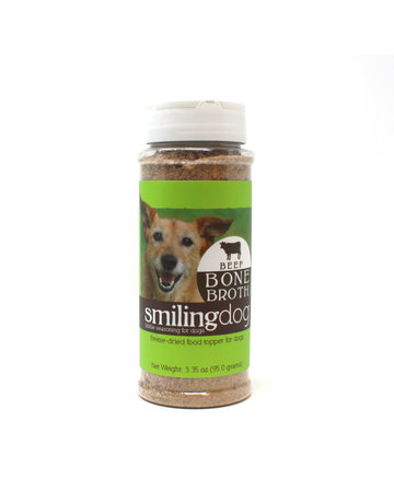 Herbsmith Smiling Dog Food Topper Beef Bone Broth  3.35oz