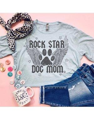 The Dapper Paw Rock Star Dog Mom t-shirt