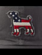 Life Is Good LIG Tattered Chill Americana Dog cap - slate grey