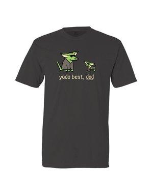 Teddy the Dog Yoda Best, Dad t-shirt - black