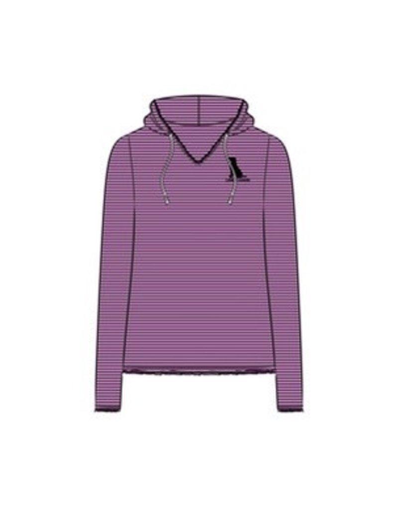 Life Is Good LIG Womens Long-Sleeved Hoodie w/Dog - purple haze