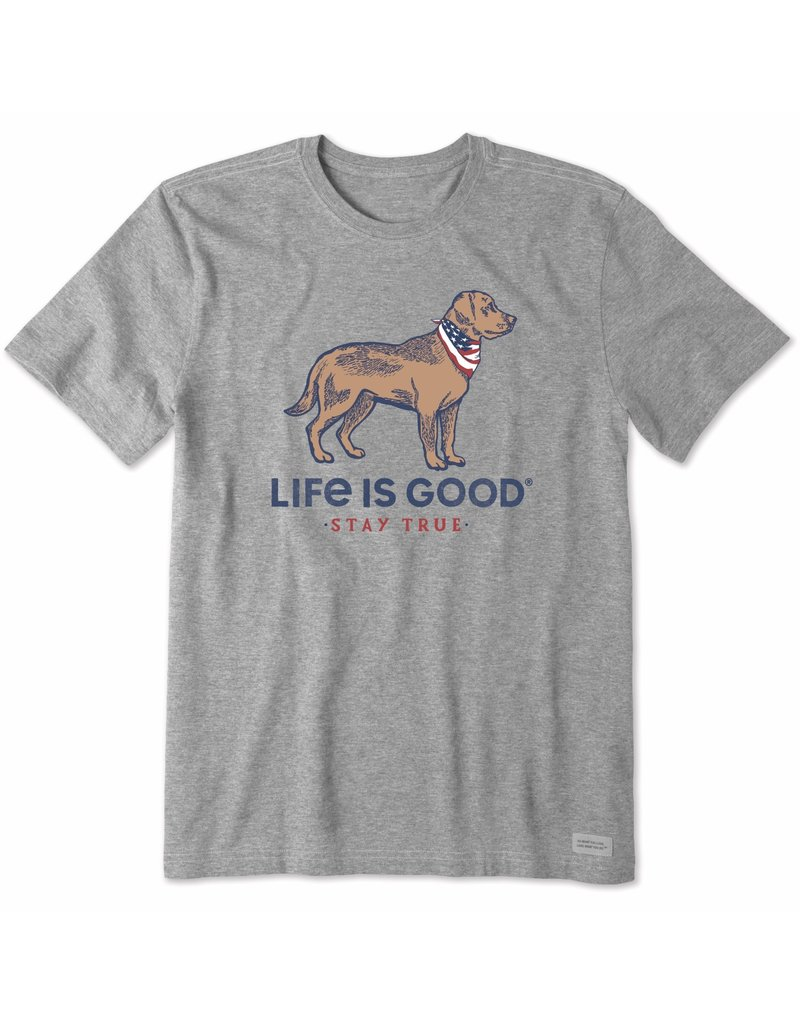 Life Is Good LIG Stay True t-Shirt - athletic grey