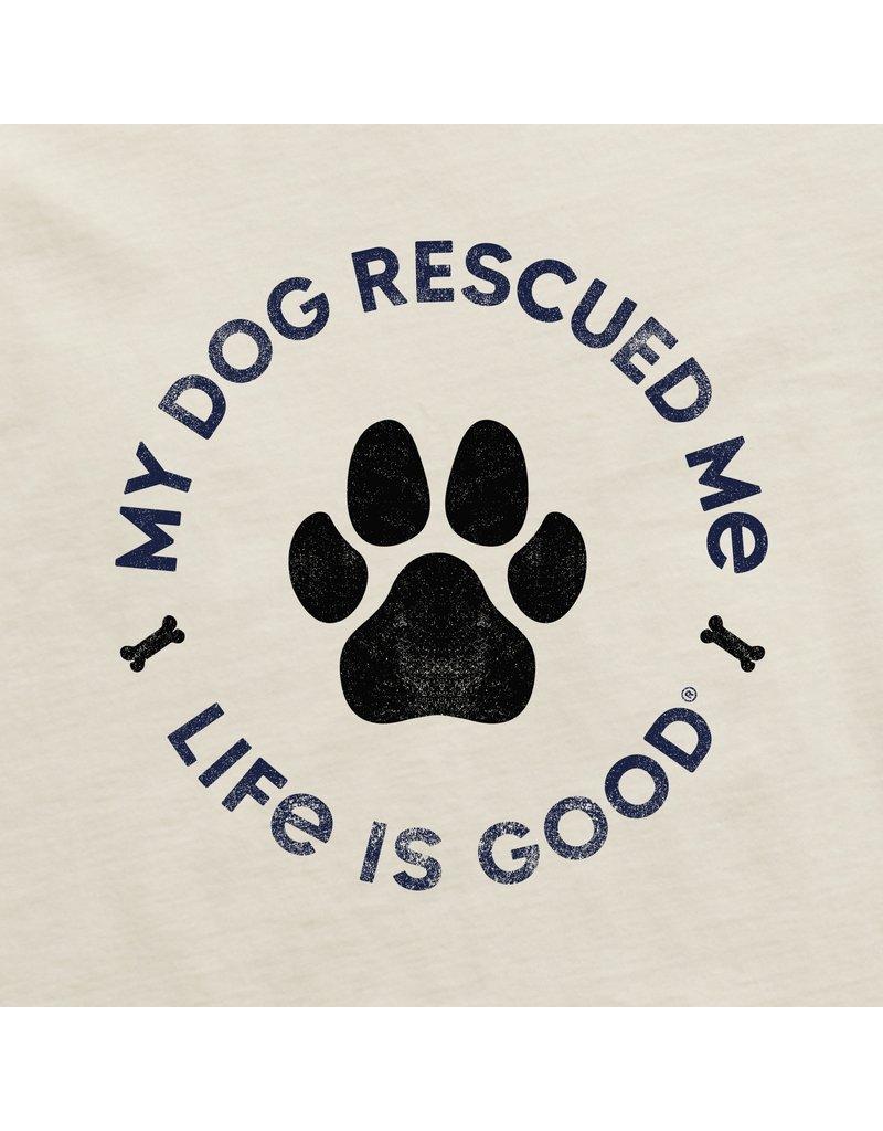 Life Is Good LIG My Dog Rescued Me t-shirt - ivory
