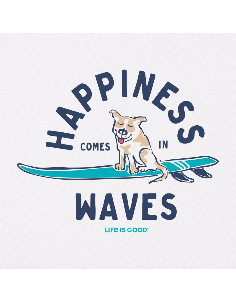 Life Is Good LIG Womens Tee Happiness Comes in Waves