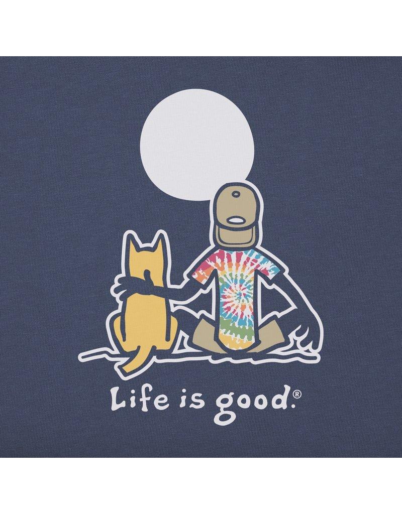 Life Is Good LIG Jake & Rocket t-shirt - dusty blue