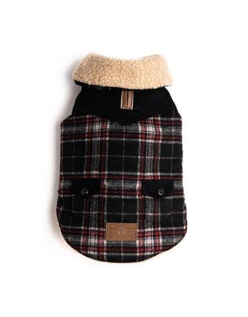 fabdog Wool Plaid Shearling jacket