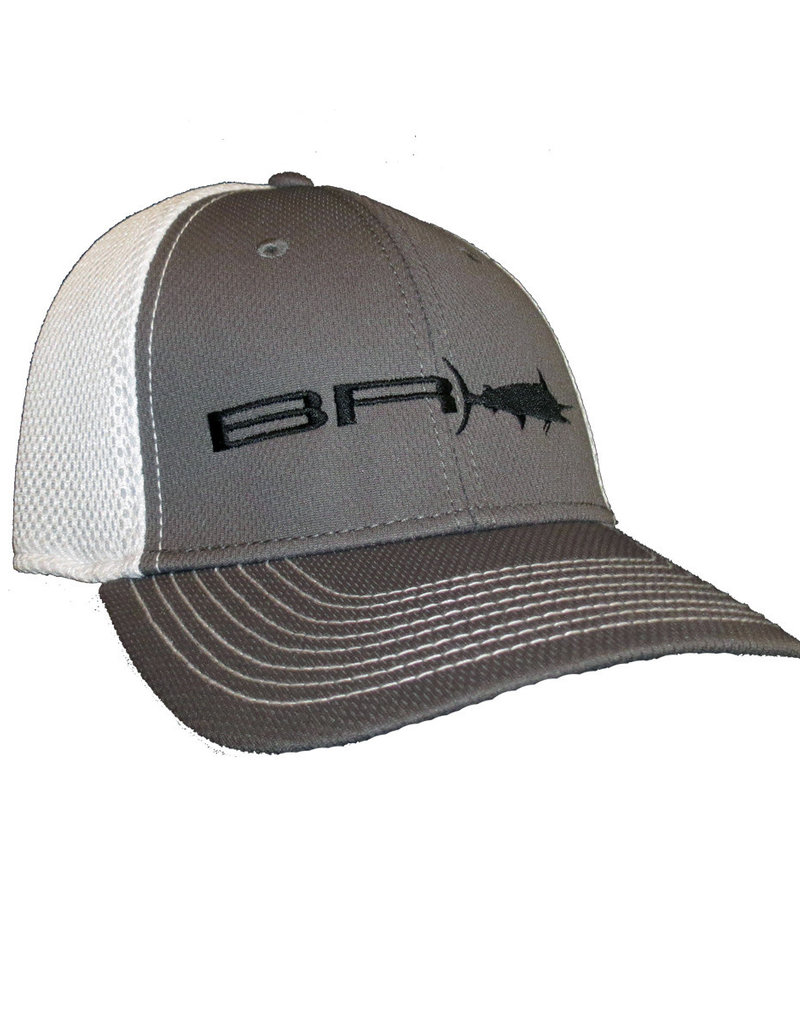 BR Edge Proflex Fitted Performance Hat, Black Thread