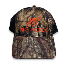 Big Rock Streak Mossy Oak Camo Trucker Hat, BlkOrange