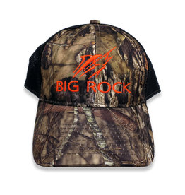Big Rock Streak Mossy Oak Camo Trucker Hat, BlkOrange