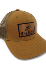 Streak Stencil Leather Patch Duck Brown Canvas Hat
