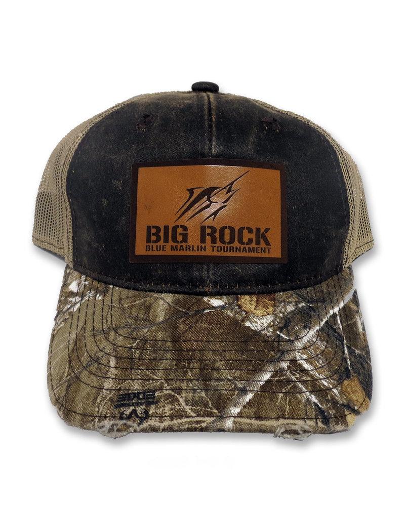 Streak Stencil Leather Patch RealTree Camo Trucker Hat