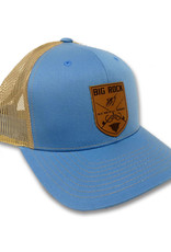 Crossed Rods Leather Patch Columbia/Khaki Snapback Hat