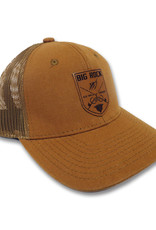 Crossed Rods Leather Patch Duck Brown Canvas Hat