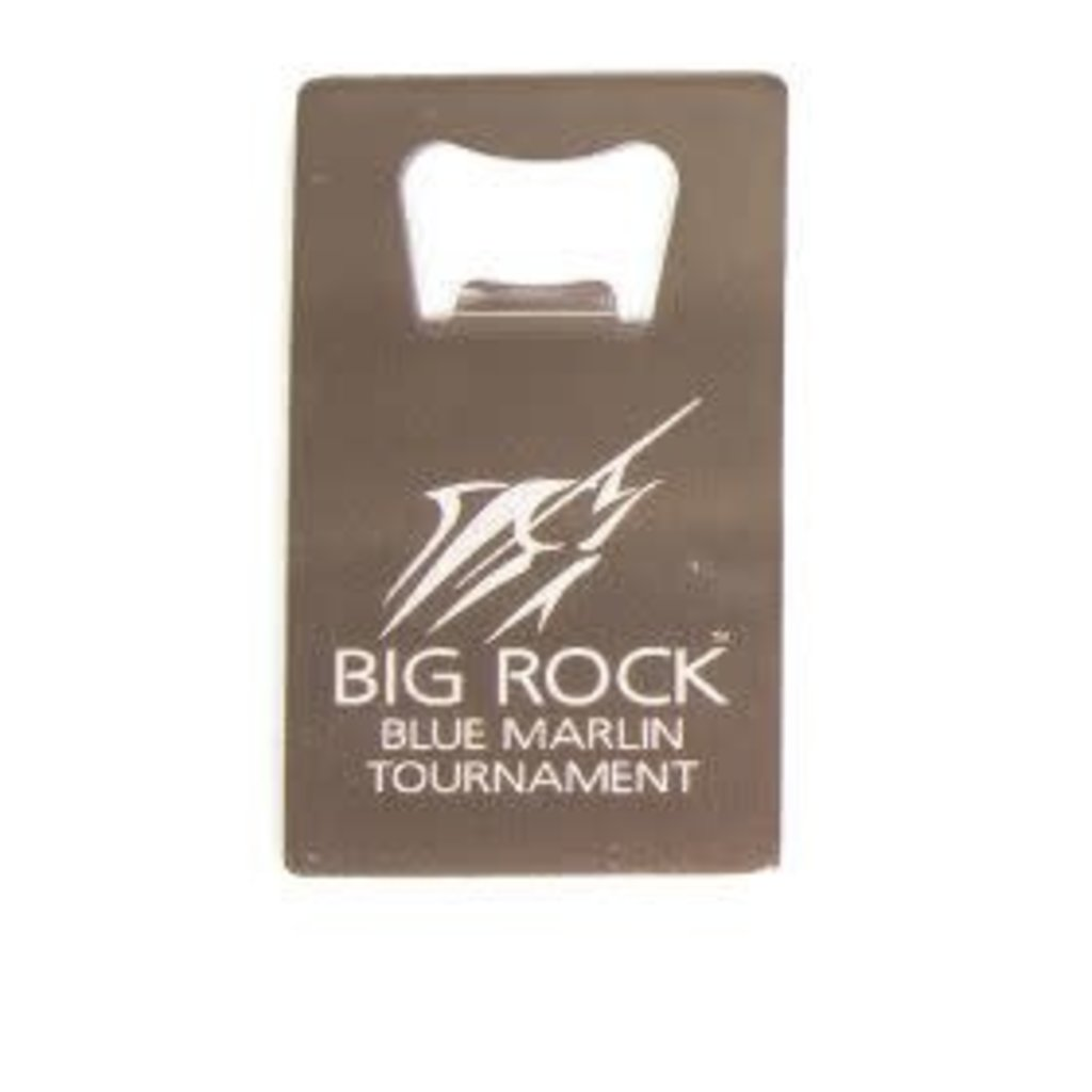 Big Rock Stainless Steel Credit Card Bottle Opener, Streak