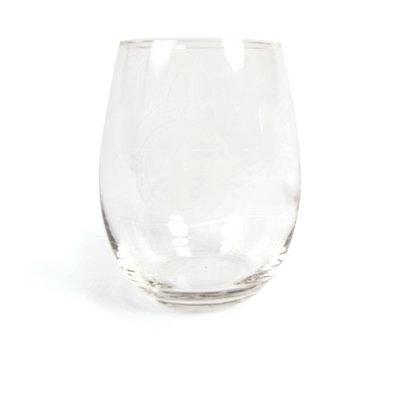 Circle Banner Stemless Wine Glass