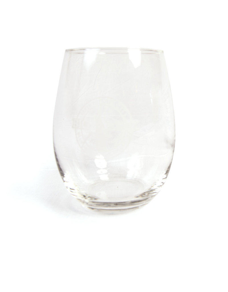 Circle Banner Stemless Wine Glass