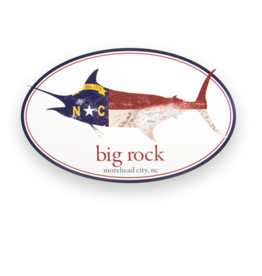 NC Flag Marlin Oval Sticker