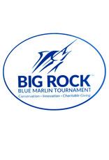 Big Rock Streak Logo Oval Sticker, Blue
