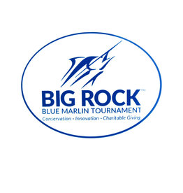 Big Rock Streak Logo Oval Sticker, Blue