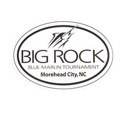 Generic Black Big Rock Streak Oval Sticker