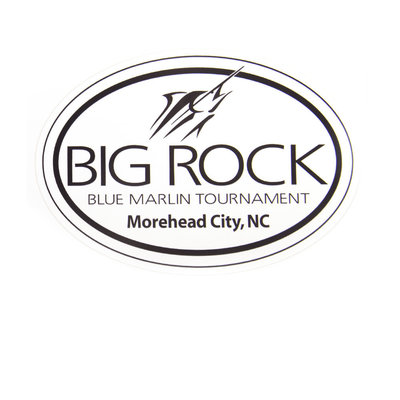 Generic Black Big Rock Streak Oval Sticker