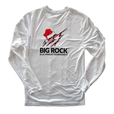 Big Rock Santa Hat Marlin Long Sleeve Performance Shirt