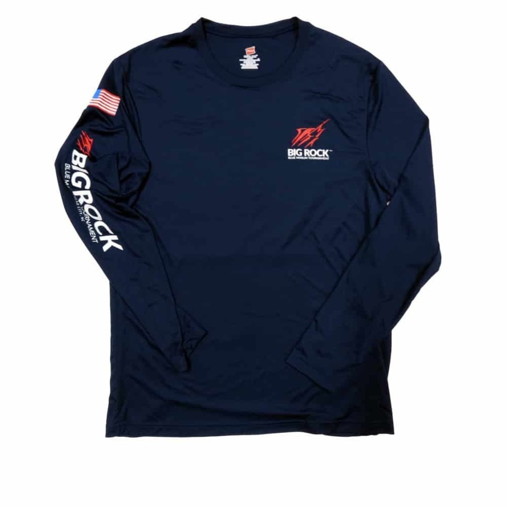 Big Rock USA Flag Streak Long Sleeve Performance Shirt