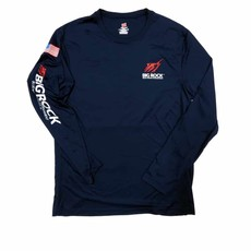 USA Flag Streak Long Sleeve Performance Shirt