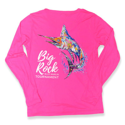 KWLA Ladies V-Neck Marlin Long Sleeve Performance Shirt