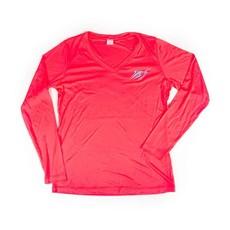 Ladies V-Neck Streak Long Sleeve Performance Shirt