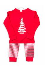 Toddler Striped Fish Tree PJ Set