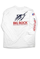 Youth USA Flag Streak Long Sleeve Performance Shirt