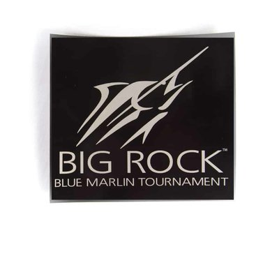 Large Streak Square Decal, Blk/Silver