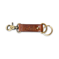 Debossed Streak Leather Keychain