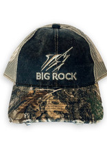 Big Rock Streak Tri-Color RealTree Camo Trucker Hat, Brown