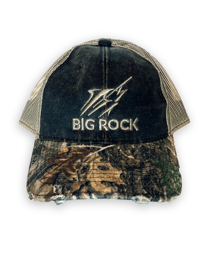 Big Rock Streak Tri-Color RealTree Camo Trucker Hat, Brown