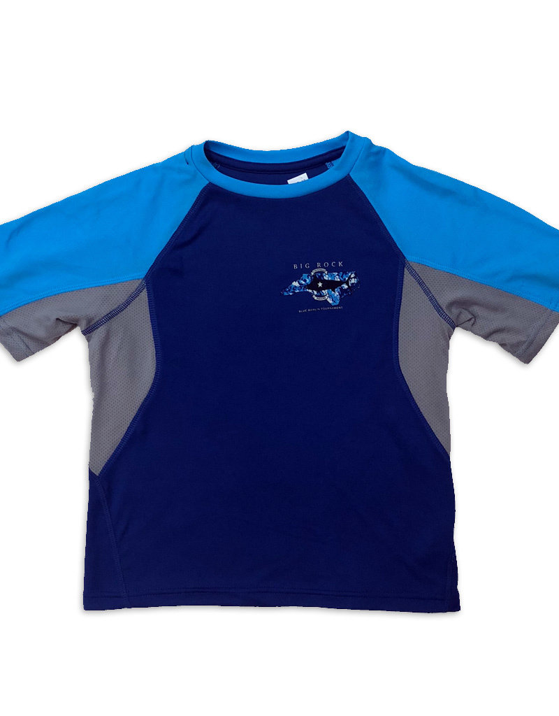 Youth NC Billfish Tri-Color Short Sleeve Performance Shirt