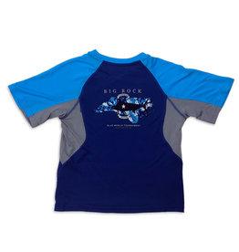 Youth NC Billfish Tri-Color Short Sleeve Performance Shirt