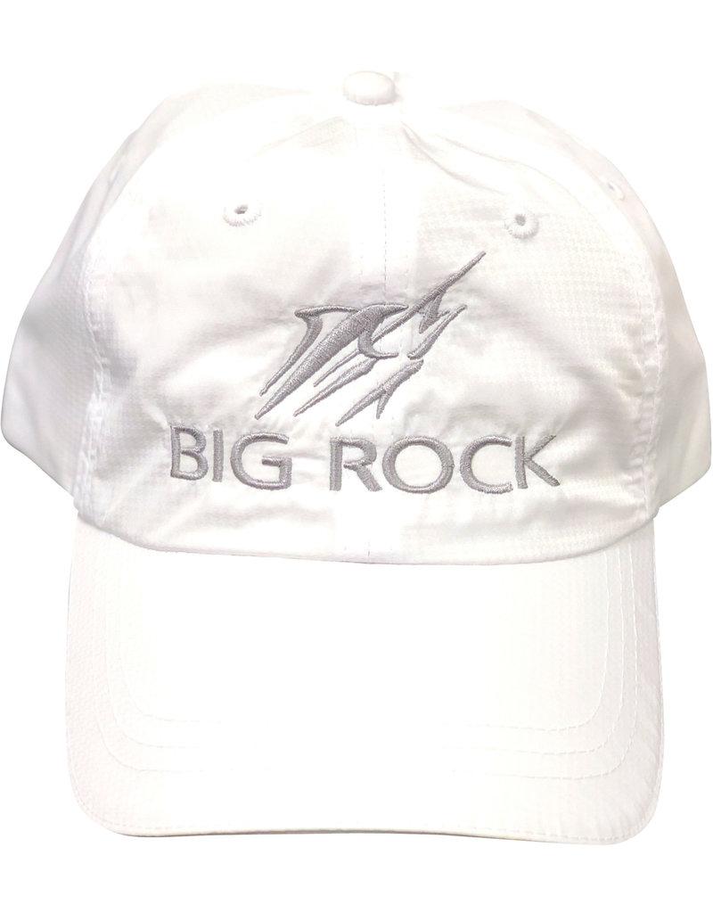 Streak Reflective Poly-Perf. Hat, White/Silver