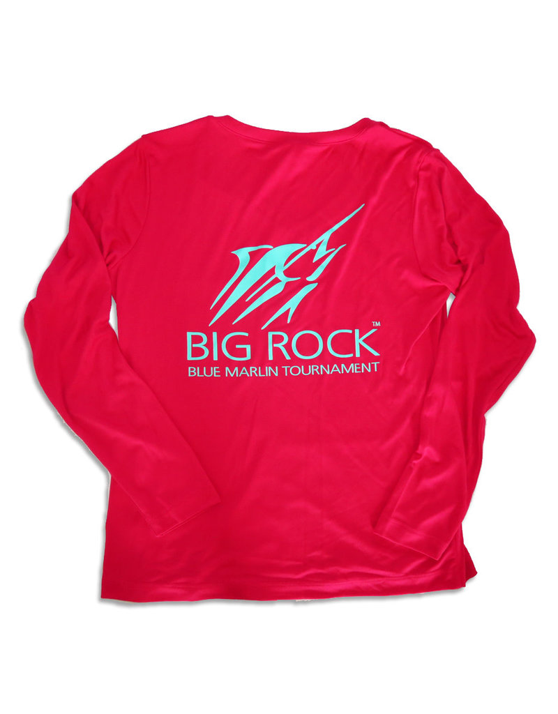 Ladies V-Neck Streak Long Sleeve Performance Shirt
