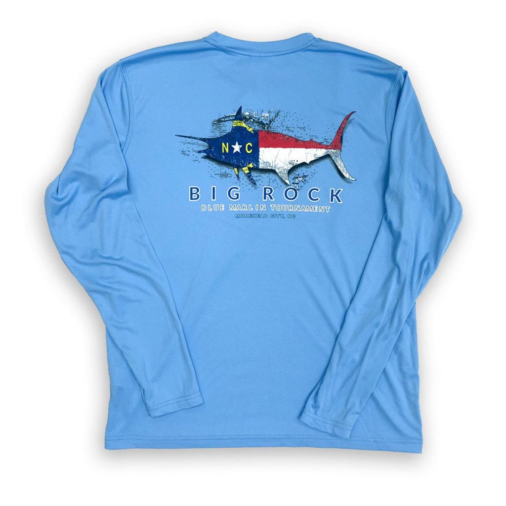 NC Flag Silhouette Long Sleeve Performance Shirt