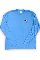 NC Flag Silhouette Long Sleeve Performance Shirt