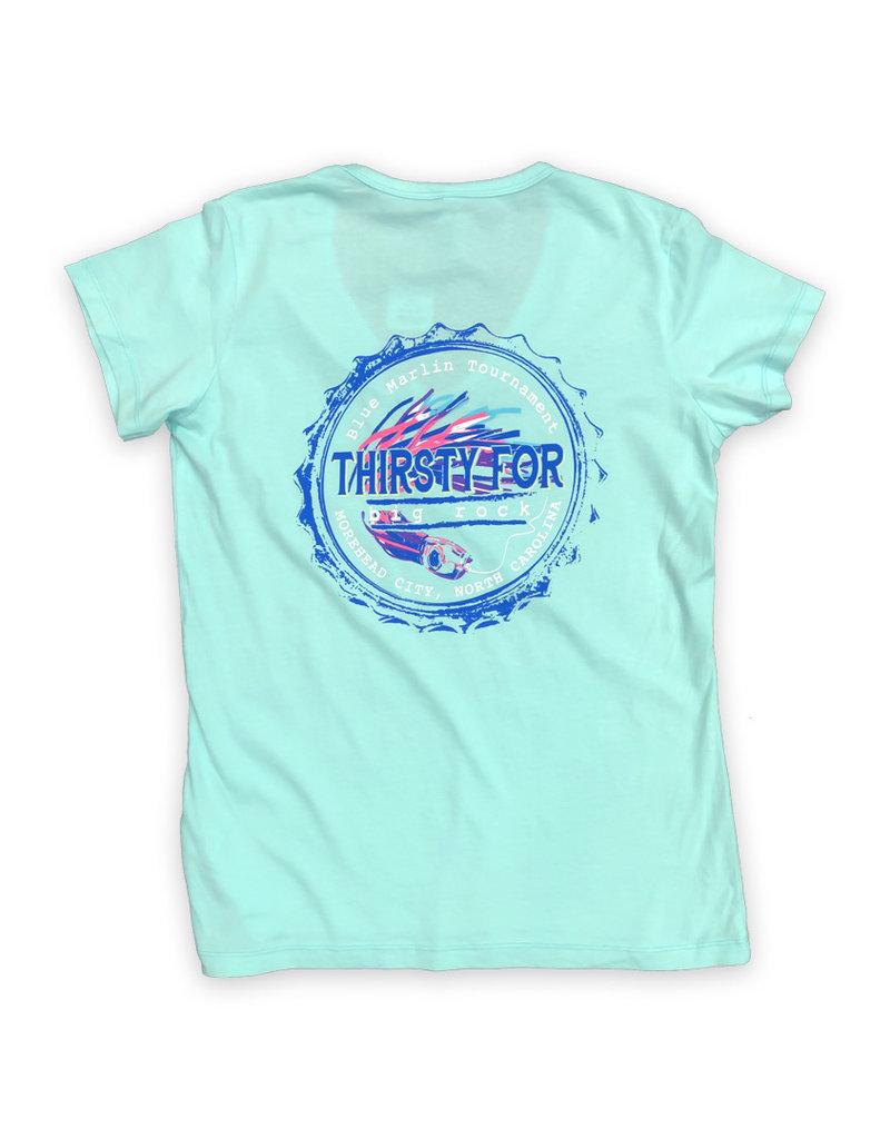 Ladies Thirsty for Big Rock V-Neck T-Shirt
