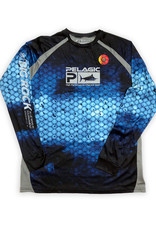 Pelagic Streak Dorado Blue Performance Shirt