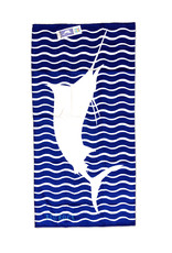 Marlin Embroidered Beach Towel