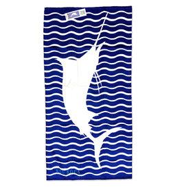 Marlin Embroidered Beach Towel