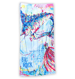 Big Rock Lady Angler Beach Towel