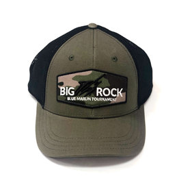Big Rock Streak Middle Logo Trucker Camos