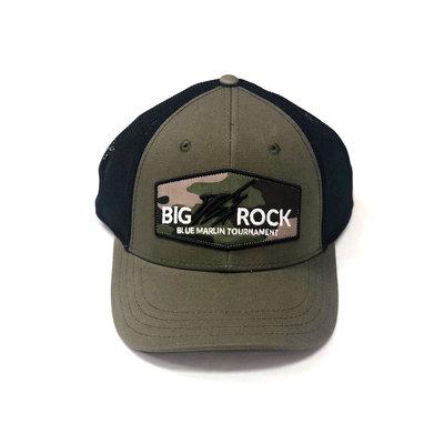 Big Rock Streak Middle Logo Trucker Camos